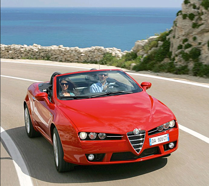 cimt alfa romeo spider convertible rental hire in rome italy covertible cabriolet rental hire. Black Bedroom Furniture Sets. Home Design Ideas