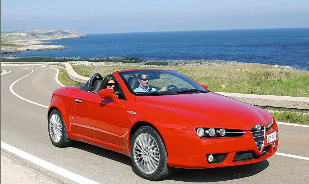cimt alfa romeo spider convertible rental hire in rome. Black Bedroom Furniture Sets. Home Design Ideas