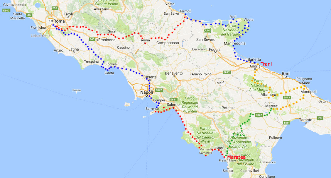 Map Of South Of Italy.Cimt Southern Italy Motorcycle Tour Motorcycle Tour Of The South